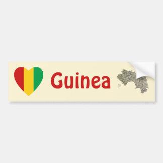 Corazón de la bandera de Guinea-Conakry + Pegatina Pegatina Para Auto
