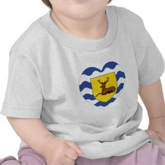 Corazón de la bandera de Hertfordshire Camisetas
