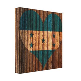 Corazón de la bandera de Honduras en el tema de Impresión En Lienzo Estirada