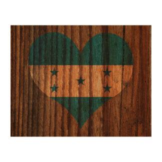 Corazón de la bandera de Honduras en el tema de Papel De Corcho Para Fotos