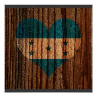 Corazón de la bandera de Honduras en el tema de Perfect Poster