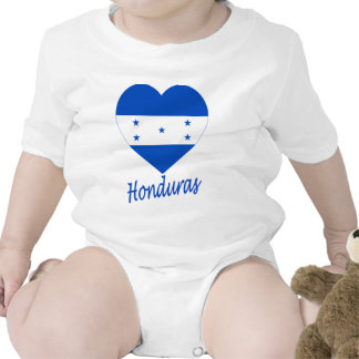 Corazón de la bandera de Honduras Traje De Bebé
