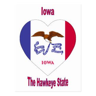 Corazón de la bandera de Iowa Postal