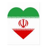 Corazón de la bandera de Irán Postal