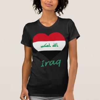 Corazón de la bandera de Iraq Playeras