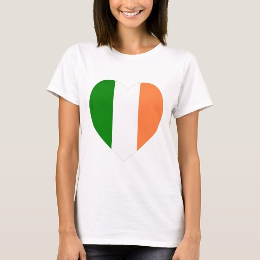 Corazón de la bandera de Irlanda Playera