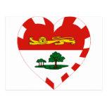 Corazón de la bandera de Isla del Principe Eduardo Postal