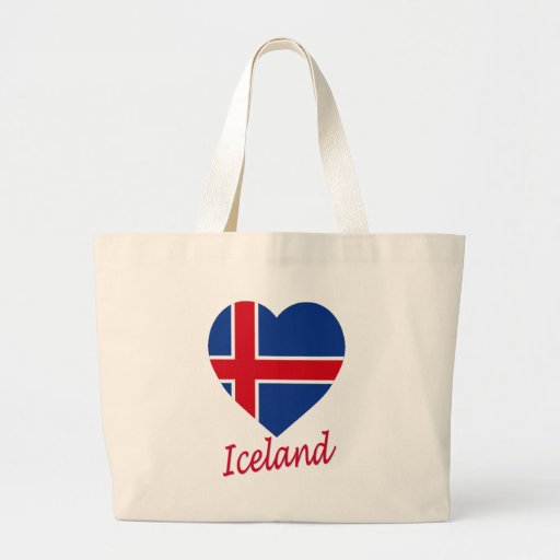 Corazón de la bandera de Islandia Bolsa