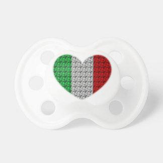 Corazón de la bandera de Italia Chupete De Bebé
