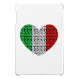 Corazón de la bandera de Italia iPad Mini Cárcasas