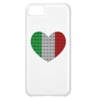 Corazón de la bandera de Italia Funda Para iPhone 5C