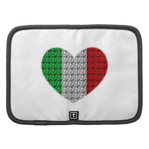 Corazón de la bandera de Italia Planificador