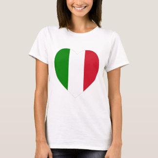 Corazón de la bandera de Italia Playera