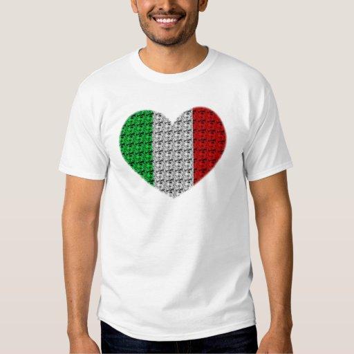 Corazón de la bandera de Italia Polera