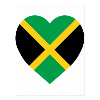 Corazón de la bandera de Jamaica Tarjeta Postal