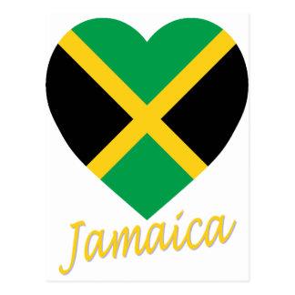Corazón de la bandera de Jamaica Tarjetas Postales