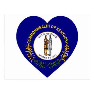Corazón de la bandera de Kentucky Tarjetas Postales