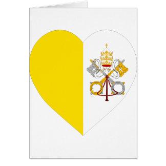 Corazón de la bandera de la Ciudad del Vaticano Felicitaciones