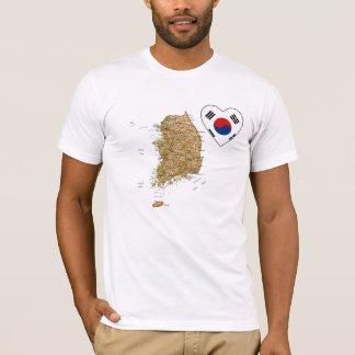 Corazón de la bandera de la Corea del Sur y Playera