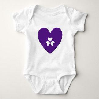 Corazón de la bandera de la prefectura de Gunma Body Para Bebé