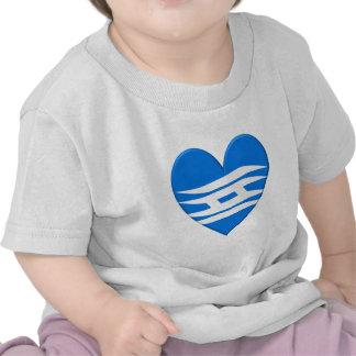 Corazón de la bandera de la prefectura de Hyogo Camisetas