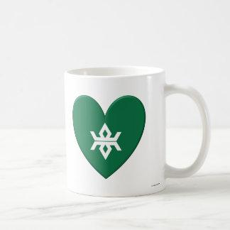 Corazón de la bandera de la prefectura de Iwate Tazas De Café