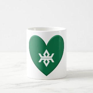 Corazón de la bandera de la prefectura de Iwate Taza De Café