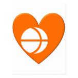 Corazón de la bandera de la prefectura de Nagano Tarjetas Postales
