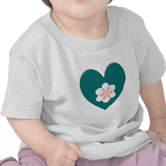 Corazón de la bandera de la prefectura de saga camisetas