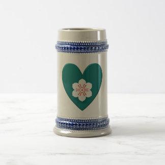 Corazón de la bandera de la prefectura de saga taza de café
