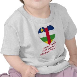 Corazón de la bandera de la República Centroafrica Camiseta