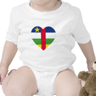 Corazón de la bandera de la República Centroafrica Traje De Bebé