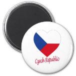 Corazón de la bandera de la República Checa Imanes De Nevera