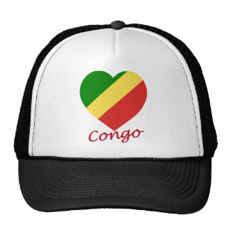 Corazón de la bandera de la república de Congo Gorro