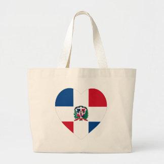 Corazón de la bandera de la República Dominicana Bolsa