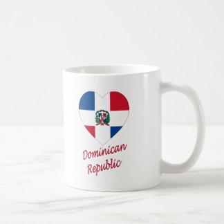 Corazón de la bandera de la República Dominicana c Tazas