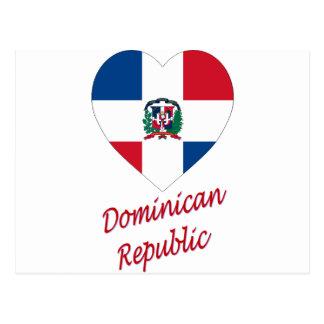 Corazón de la bandera de la República Dominicana Postal