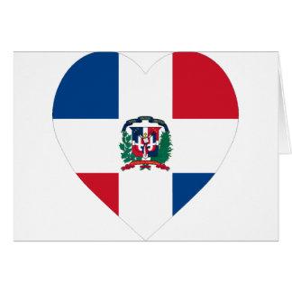 Corazón de la bandera de la República Dominicana Felicitación