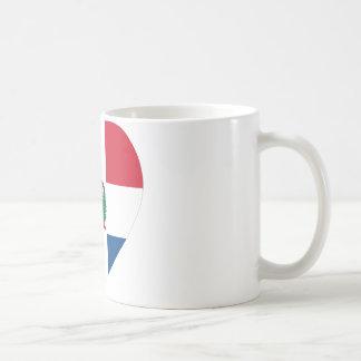 Corazón de la bandera de la República Dominicana Taza De Café
