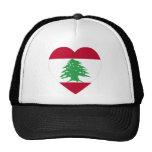 Corazón de la bandera de Líbano Gorros