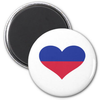 Corazón de la bandera de Liechtenstein Imán Redondo 5 Cm