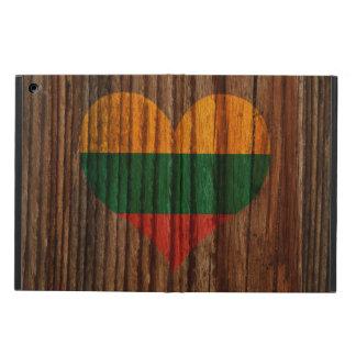 Corazón de la bandera de Lituania en el tema de