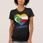 Corazón de la bandera de los Comoro Camisetas