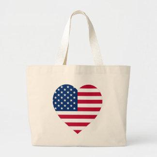 Corazón de la bandera de los E.E.U.U. Bolsa
