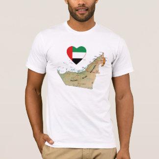 Corazón de la bandera de los UAE y camiseta del