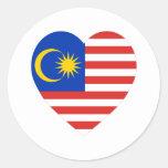 Corazón de la bandera de Malasia Pegatinas
