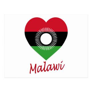 Corazón de la bandera de Malawi con nombre Postal