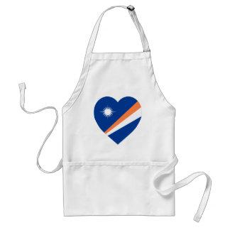 Corazón de la bandera de Marshall Islands Delantales