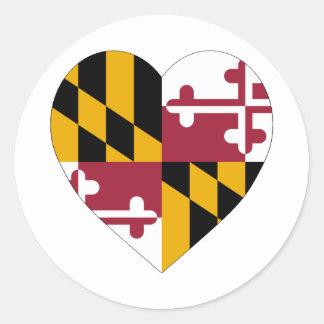 Corazón de la bandera de Maryland Etiqueta