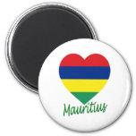 Corazón de la bandera de Mauricio Imán De Frigorifico